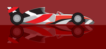Racing car the formula. In fighting colouring stock illustration