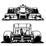 Racing car front and back view. Stock Photo