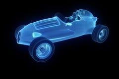 Racing Car Hologram Wireframe. Nice 3D Rendering Stock Image