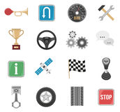 Racing Car Icon Set Royalty Free Stock Images