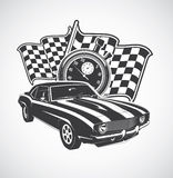 Racing car. Illustration of a sports car Royalty Free Stock Photography