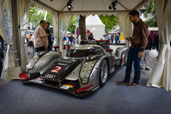 Racing car, Le Mans Prototype (LMP), Audi R18 TDI Ultra, 2011. Royalty Free Stock Photography