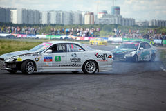 Racing car of M.Khondakaryan on track in 3-d tour Stock Photography