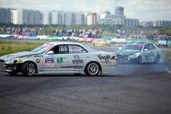 Racing car of M.Khondakaryan on track in 3-d tour Stock Photography