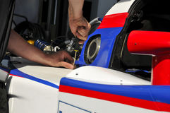Racing Car Mechanic Royalty Free Stock Photography