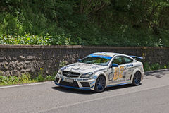Racing car Mercedes-Benz C63 AMG (2012) in Mille miglia 2016 Royalty Free Stock Photo