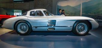 Racing car Mercedes-Benz 300 SLR Uhlenhaut coupe, 1955 Stock Image