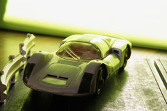 Racing car. Miniature model of a racing car. Kids racing car toy Stock Image