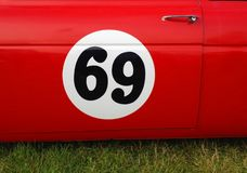 Racing Number 69 Royalty Free Stock Images