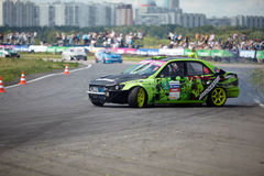 Racing Car On Track Of Moscow Racetrack Stock Image