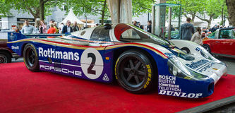 Racing car Porsche 956 designed by Norbert Singer, 1982 Royalty Free Stock Images