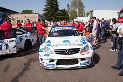 Racing car in the Rally of Monza Royalty Free Stock Image