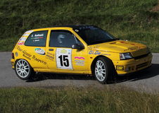 Racing car Renaul New   Clio Royalty Free Stock Images