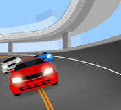 Racing car on the road Stock Image