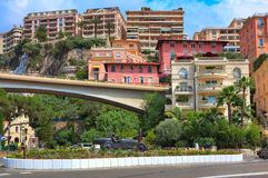 Racing car sculpture in the center of Monte Carlo. Royalty Free Stock Photography