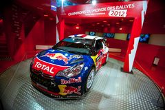 Racing car Sebastien Loeb Royalty Free Stock Images