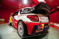 Racing car Sebastien Loeb Royalty Free Stock Photos