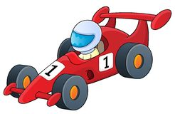 Racing car theme image 1 Royalty Free Stock Photo
