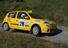 Racing car on two wheels Renault Clio Stock Photography