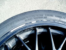 Racing car tyre Stock Images