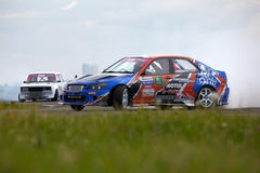Racing car of V.Pustoshny on track Stock Image