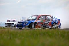 Racing car of V.Pustoshny on track Stock Image