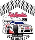 Racing car vector art Royalty Free Stock Photography