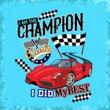 Racing car vector art Stock Photography