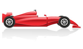 Racing car vector illustration EPS 10. Isolated on white background Royalty Free Stock Photo