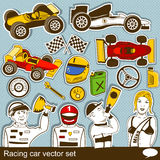 Racing car vector set Royalty Free Stock Photo