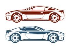 Racing car, vehicle, auto vector illustration Stock Photos