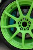 Racing car wheel Stock Image