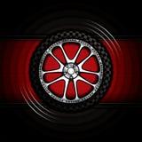 Racing car wheel Royalty Free Stock Photo