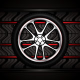 Racing car wheel Royalty Free Stock Photography