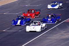 Racing cars stock photo