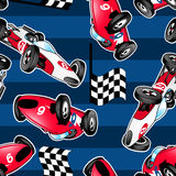 Racing cars with blue stripes. Royalty Free Stock Images