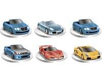 Racing cars Stock Photography