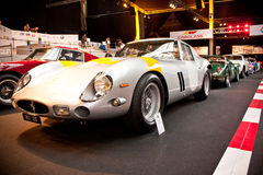 Racing cars on display stock images