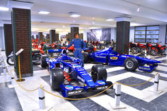 Racing cars of Formula 1 in the museum of technology Vadim Zadorozhny. Arkhangelskoe, Moscow region, Russia Royalty Free Stock Images