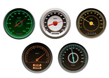 Racing cars speedometers set Royalty Free Stock Images