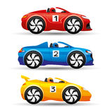 Racing cars on a white background. Stock Image