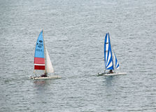 Racing Catamarans Stock Image