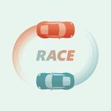 Racing Championship Logo / Emblem. Retro Style Royalty Free Stock Image