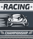 Racing Championship Poster Design. Stock Image