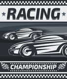 Racing Championship Poster Design. Stock Photography