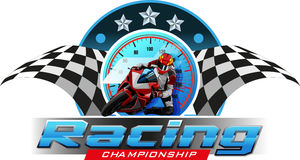 Racing Championship. Vector abstract, logo or symbol racing championship event Stock Images