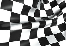 Racing checkered flag. Texture of racing checkered flag - 3d render Royalty Free Stock Image