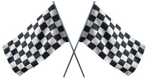 Racing Checkered Flag Stock Image
