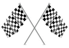 Racing Checkered Flags Finish Royalty Free Stock Photos