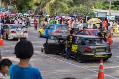 Racing circle in Bangsan beach Royalty Free Stock Photo